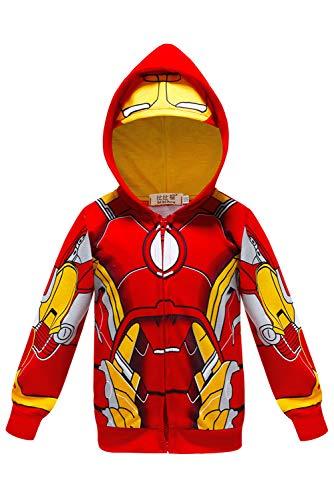 RedJade Iron Man Tony Stark Uniform Jumpsuit Overall Bodysuit Outfit Cosplay Kostüm Kinder Jungen 110