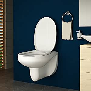 toilette h nge wc inkl toilettendeckel mit absenkautomatik wei baumarkt. Black Bedroom Furniture Sets. Home Design Ideas
