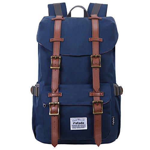 Medium Rucksack Schule (Fafada 18L Rucksack für Damen Kinder Wasserabweisend Schulrucksack Blau)