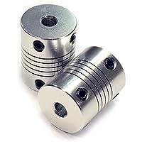 HICTOP 2 PCS Flexible Kupplungen 5mm NEMA 17 Wellenkupplungen für RepRap 3D-Drucker Prusa i3 oder CNC-Maschine zu 8mm