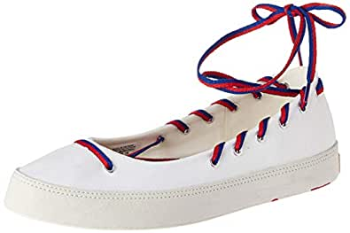 Converse Women's White/Blue/Enamel Red Sneakers-5 UK/India (37.5 EU) (1001696403002)