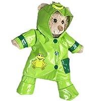 "Teddy Bear Clothes - Green Frog Raincoat - Fits 8""/20cm Teddy Bears & Make Your Own Stuffed Animals"