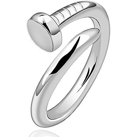 Fashion NYKKOLA Beautiful Jewelry placcati argento Sterling 925, Design unico ad anello a vite, con anelli