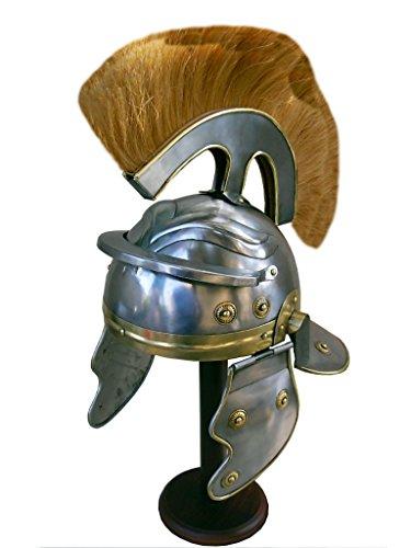 Roman Centurion Helm (Dick Natur Plume) Reenactment/Larp/Rollenspiel - (Roman Helm Centurion)