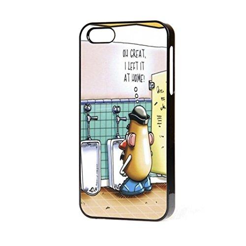 Funny Mr Potato Head Passt Telefon Fall iPhone 5-5S FREE P & P., Schwarz, iPhone 4/4S -