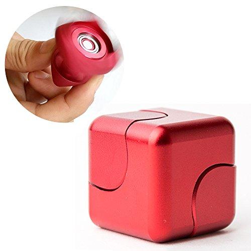Nueva Generación Magic Cube Dice con Hand Spinner Aleación de aluminio Whirlwind Square Dedo para adultos y niños para el aburrimiento y el alivio de estrés.