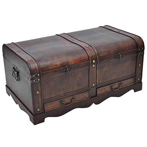 Antike Truhen Und Trunks (Large Ottoman Schatztruhe Antik Vintage Holz Trunk Aufbewahrung Möbel)