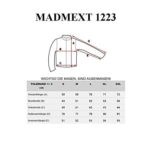 BOLF Herrenpullover Sweatshirt Sweatjacke Langarm Pullover MADMEXT 1226 Grau_1223