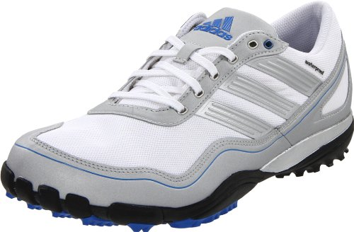 Mens Puremotion Golfschuhe (adidas Men's Puremotion Golf Shoe,White/Metallic Silver/Satellite,9 M US)