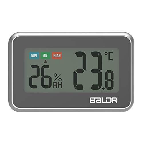 ONEVER Mini Indoor Digital LCD Praktisches Thermometer Hygrometer Hohe Präzision mit Komfortanzeige Temperatur-Feuchtemessgerät