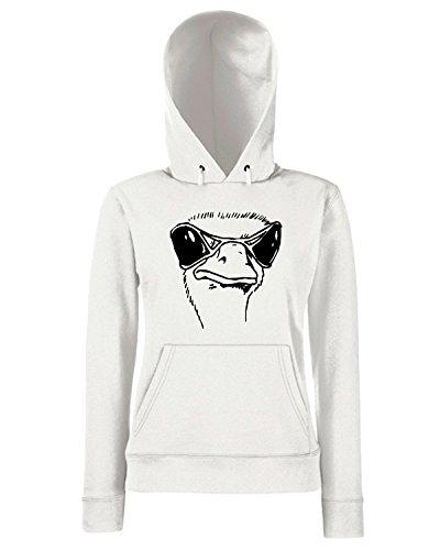 T-Shirtshock - Sweats a capuche Femme FUN0782 bird birds animal car or wall vinyl decal sticker 07 25804 Blanc