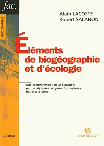 Éléments de biogéographie et d'écologie