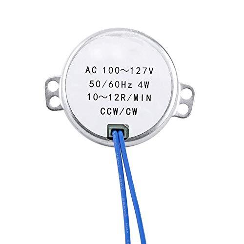 Synchronmotor, Wechselstrom 100-127V 50 / 60Hz 4W zur Belüftung von Ventilatoren, Heizung, Verkaufsregal, Kunsthandwerk, Lampen, Beleuchtung, Spielzeug(10-12RPM)