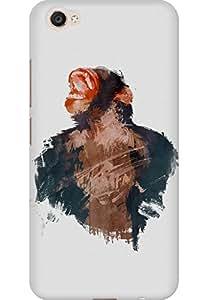 AMEZ designer printed 3d premium high quality back case cover for Vivo X9 (Ape Minimal Art)