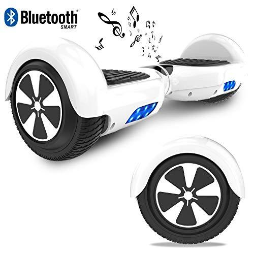 """RCB Hoverboard Elektro Skateboard 6,5\"""" Smart Self Balance Scooter mit bunten Lichter Bluetooth eingebaute Geschenk für Kinder - Elektro Roller EU Sicherheitsstandard"""
