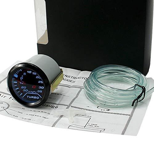 Druck-vakuum-messgeräte (Turbo Boost Vakuum Messgerät Druck Getönt LED Universell Auto Turbo Auto Messgerät - Schwarz, 1 pc)