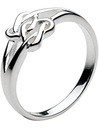 Heritage Women's Sterling Silver Celtic Lovers Heart Ring
