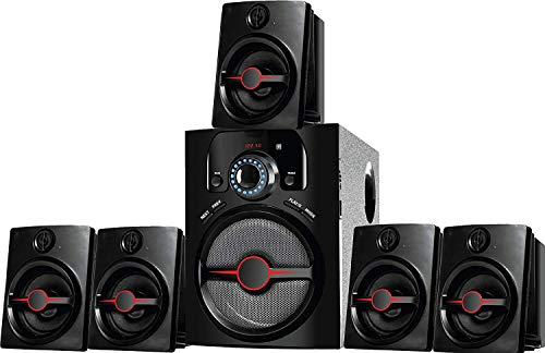 IKALL 5.1 Home Theater System with AUX/FM/USB Connectivity (Black)