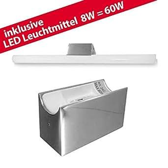 ALUTEC lIN linestra lampe tubulaire lED avec 1 x ampoule lED 8W/60 w chromé