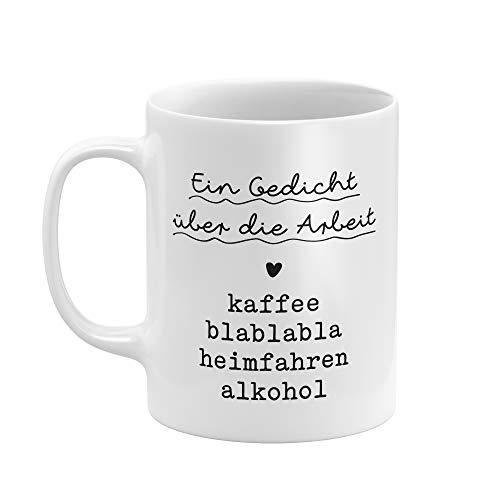 """Tasse von THEGOODVIBES - tolle und lustige Tasse mit Spruch -""""EIN GEDICHT - Hochwertiger Druck, Qualitätsporzellan - weiß glanz"""