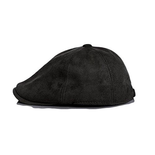 Anshili Béret Chapeau En Imitation Wildleder Newsboy Hat Nior