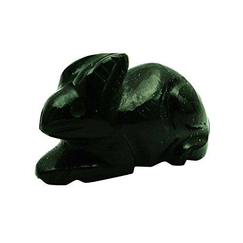 Preisvergleich Produktbild Harmonize Grüne Sun Sitara Stein Kaninchen Figurine Geschnitzte Reiki Healing Stein Steine