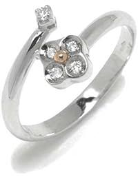 Gioie Bague Femme en Or 14 carats Blanc/Jaune avec Diamant H/SI