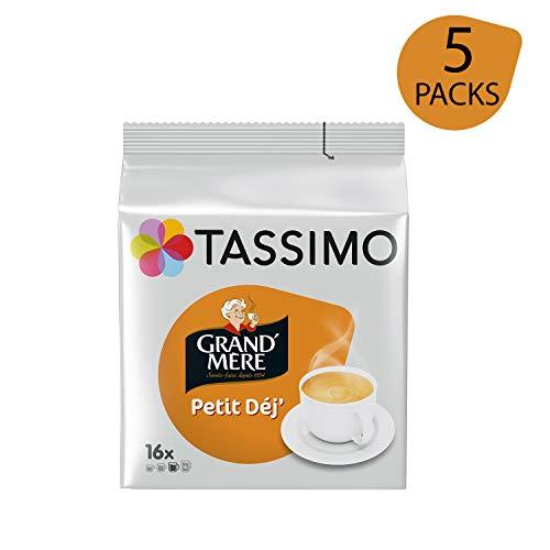 TASSIMO Grand Mere Petit Dejeuner - Cápsulas de café, paquete de 5 discos T, 80 bebidas
