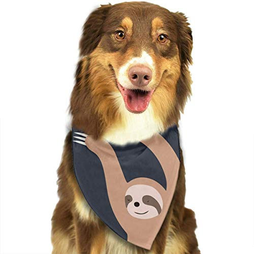 Wfispiy Sloth Universe Pet Dog Bandanas Triangle Bibs Scarf Accessories for Medium to Large Size