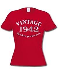 1942 VINTAGE YEAR - Cadeau d'anniversaire 72 ans T-Shirt Femme