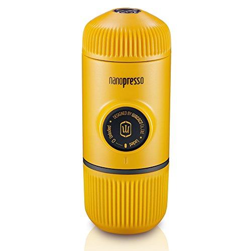 Wacaco Nanopresso Portátil Espresso Maker, Versión mejorada de Minipresso, 18 Presión de barra, Edición de la Patrulla Amarilla, cafetera de viaje extra pequeña, operada manualmente