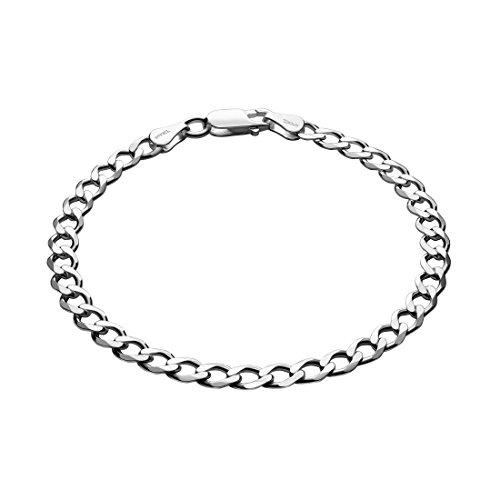 STERLL Herren Armband Sterling-Silber 925 20cm Geschenkbox Kleine Geschenke für Männer (Armband Sterling Herren Silber)