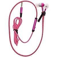 Calistouk - Auriculares estéreo con micrófono (3,5 mm) rosa