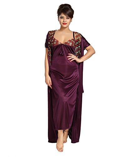 abbfc9ac394 ... Pyjama TUCUTE Women s Satin Nightwear Set of 6 Pcs Nighty