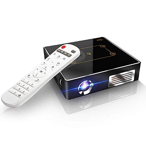 siberiantiger Kabelloser Bluetooth-Beamer,Portable Projektor Bluetooth,HD-Smart-Videobeamer,Intelligente Projektion,Tischprojektor,Eingebautes Android-System,2G Speicher Und 16G Cache,Black