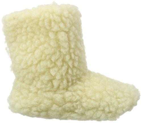 Woolsies Aconca Natural, Pantofole con Fodera in Lana, da Donna Beige (Cream)