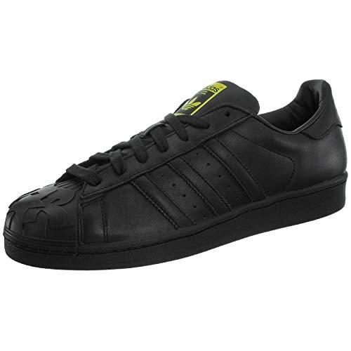 adidas Herren Superstar Pharrell S Low-Top Sneaker, Schwarz/goldfarben, 45 EU