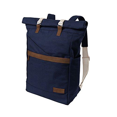 Ansvar-Rucksack-aus-Bio-Baumwoll-Canvas-Blau-Hochwertiger-Damen-Herren-Vintage-Tagesrucksack-aus-100-nachhaltigen-Materialien-Der-erste-Rucksack-mit-GOTS-Fairtrade-Zertifikat