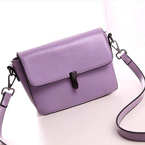 QWA Handtaschen Fashion Einzelner Schulterbeutel Lady'S Simple Casual Handbag,Violett,