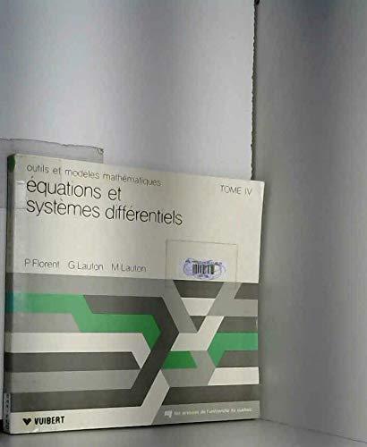Equations et systèmes différentiels