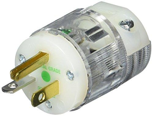 Hubbell hbl8315ct Plug, Krankenhaus Klasse, 20Amp, 125V, 5-20P, transparent -