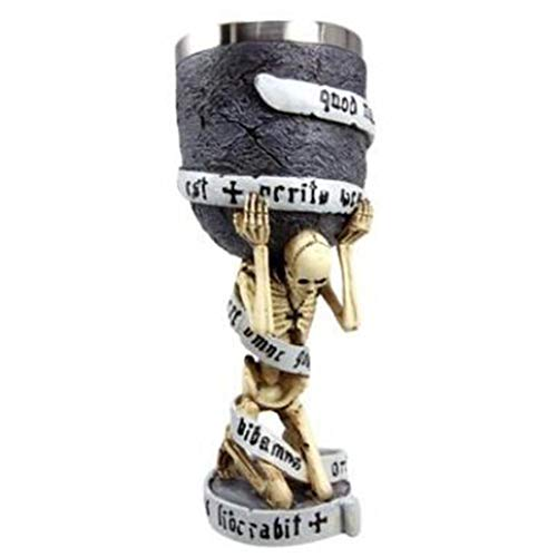 Formulaone Jarra de Cerveza de Cerveza de Copa de cráneo 3D de Acero Inoxidable Creativo Taza para Beber - Plata