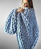 Yiyida Decke Handgefertigt Riese Klobig Sticken Werfen Sofa Decke Handgewebt Sperrig Decke Zuhause Dekor Geschenk