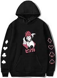 Mens Hoodie Long Sleeve Harajuku Fashion Sweatshirts 3D Drawstring Anime HUNTER×HUNTER Cartoon Hisoka Characte