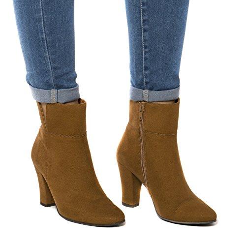 NAE Bline - Damen Vegan Stiefel (38, Braun) - 5