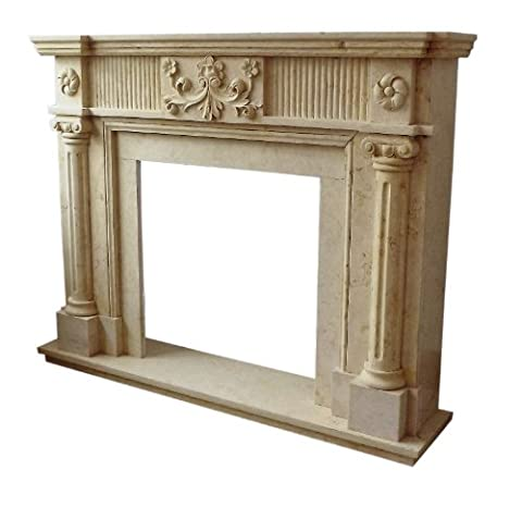 EMPIRE Classical FIREPLACE SURROUND 1.5x 1.2M Marble Solid D Heb 23Sand Top