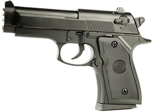 Preisvergleich Produktbild Nick and Ben N&C Metall Mortal Profi Soft-Air Pistole 650g schwer! 0, 49 Joule Schwarz Frei ab 14 Jahren Spielzeug-Pistole
