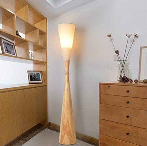 SHINEELI Japanische Stehlampe, Stehende Stehlampe, mit Stoffschirm, E27 Lampensockel, für Wohnzimmer, Schlafzimmer, Arbeitszimmer, Büro