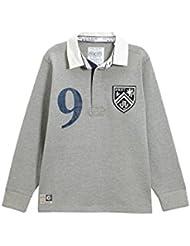 next Niños Junior Top Camisa Estilo Rugby Polo Manga Larga De Mezcla De Algodón (3-16 Años)