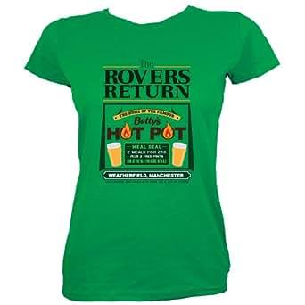 Green Skinny Fit Small (UK 8 - 10) The Rovers Return Ladies T-shirt